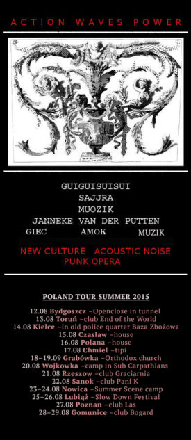 Flyer tour in Poland, ACTION WAVES POWER, 2015
