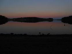 Photo of the sunrise on 9 December 2014 in Vassiviere Island, France