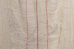 Detail 'Quitsato', 2017, embroidered textile, 155 (l) x 85 (w) cm, i.c.w. Cristobal Cobo